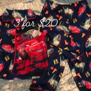 Disney Cars 2 piece button down pajamas 24M